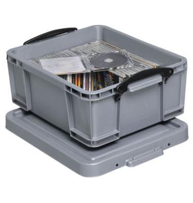 Aufbewahrungsbox 18S silber 18 Liter 390 x 200 x 480mm