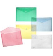 Dokumententasche 40101 A4 farbig sortiert/transparent 10 Stück