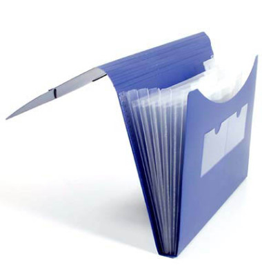 Fächermappe 70004-40 A4 mit 5 Fächern 5-teilig blanko Kunststoff blau