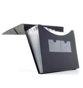 Fächermappe 70004-30 A4 mit 5 Fächern 5-teilig blanko Kunststoff schwarz