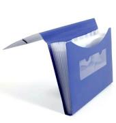 Fächermappe 70005-40 A4 mit 7 Fächern 7-teilig blanko Kunststoff blau