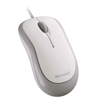 PC-Maus Basic Optical Mouse for Business 4YH-00008, 3 Tasten, mit Kabel, USB-Kabel, optisch, weiß