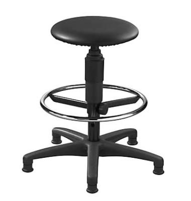 Arbeitsdrehstuhl Tec 60 Counter mit Gleitern schwarz