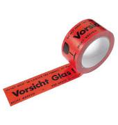 Signal-Packband Vorsicht Glas! aus Polyvinylchlorid (PVC)