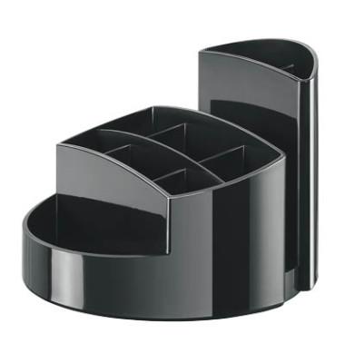Stifteköcher RONDO schwarz 9 Fächer