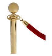Kordelsystem rot 150,0 cm mit Kordelende gold eloxiert