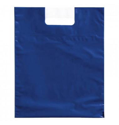 Tragetaschen blau 27,5 x 34,0 cm (BxH) mit 6,0 cm Bodenfalte