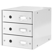Schubladenbox Click & Store weiß 3 Schubladen