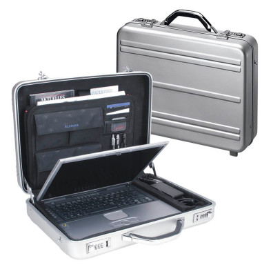 Notebook-Attachékoffer Mercato silber bis 17 Zoll