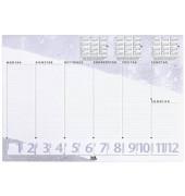 Kalenderschreibunterlage blau 3 Jahre + Wochenplan 40 Blatt