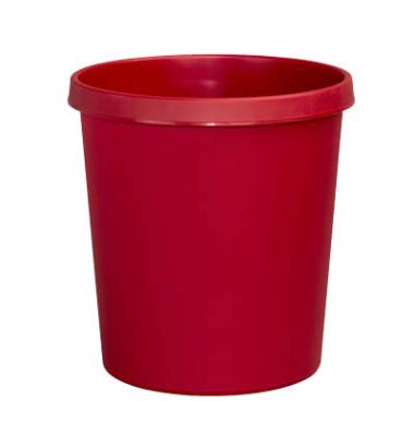 Papierkorb H61058, 18 Liter rot