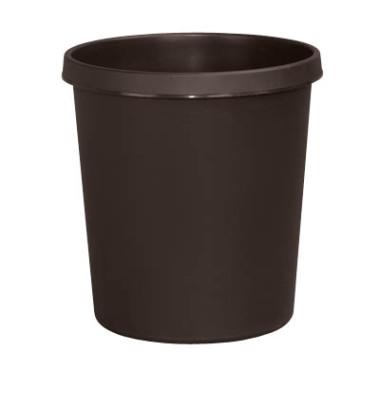 Papierkorb H61058, 18 Liter braun