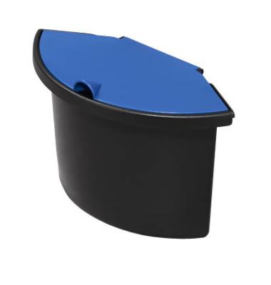Abfalleinsatz 2 Liter mit Deckel für H61057/58 schwarz/blau