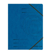 Eckspannmappe easy orga A4 355g blau 5 Stück