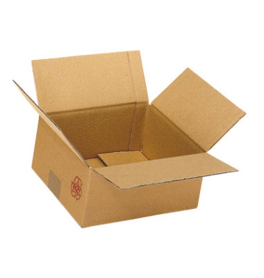 Faltkartons 21,3 x 21,3 x 20,8cm braun 20 Stück Wellpappe