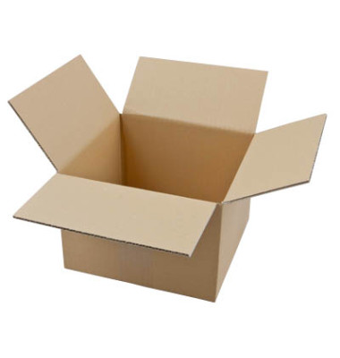 Faltkartons 23,5 x 23,5 x 16,7cm braun 20 Stück Wellpappe