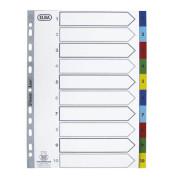 Kunststoffregister 400013907 1-10 A4 0,12mm farbige Taben 10-teilig