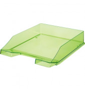 Briefablage 1026 A4 / C4 grün-transparent stapelbar