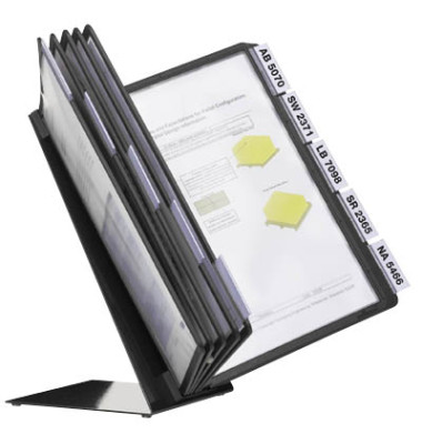 Tischständer VARIO schwarz mit 10 Tafeln schwarz