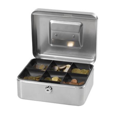Stahlblech-Geldkassette Größe 2, silber