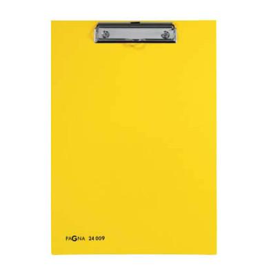 Klemmbrett 24009-05 A4 gelb 240x340mm Kunststoff mit Aufhängeöse