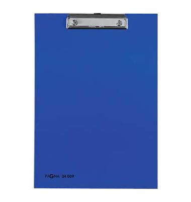 Klemmbrett 24009-02 A4 blau 240x340mm Kunststoff mit Aufhängeöse