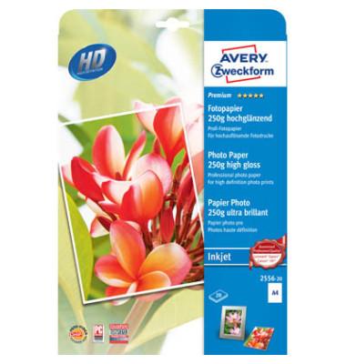 2556 Premium A4 250g Inkjetpapier weiß 20 Blatt