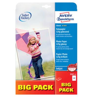 Inkjet-Fotopapier A4 2567 Classic einseitig glänzend 125g 75 Blatt