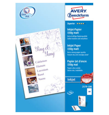 2579 Classic A4 150g Inkjetpapier weiß 100 Blatt