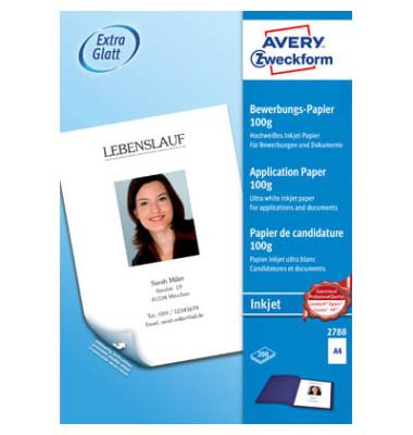 2788 Bewerbungs-Set 2788 A4 100g Inkjetpapier seidenmatt weiß 200 Blatt