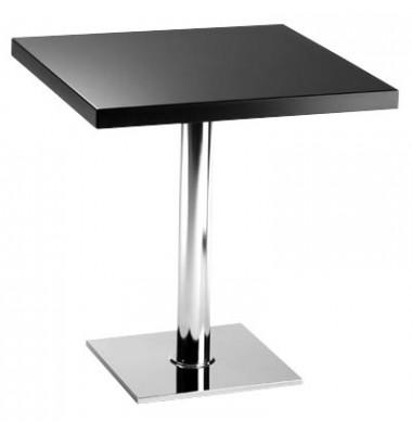 Bistrotisch schwarz rechteckig 70x70cm x 75cm