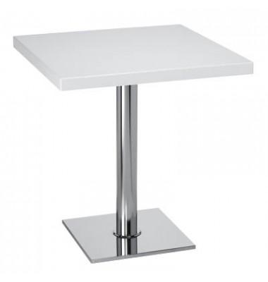 Bistrotisch weiß rechteckig 70x70cm x 75cm