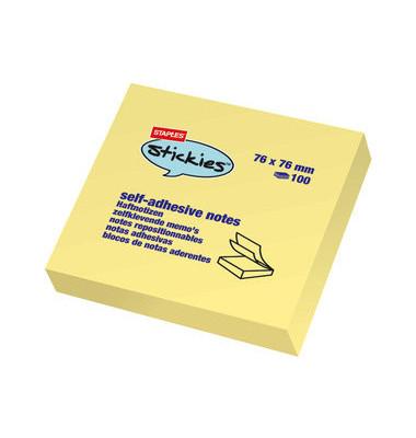 Haftnotizen 100 Bl gelb 76x76mm