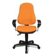 Bürodrehstuhl Point 70 mit Armlehnen orange