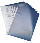 Prospekthüllen A4 transparent genarbt 90my oben offen 100 Stück