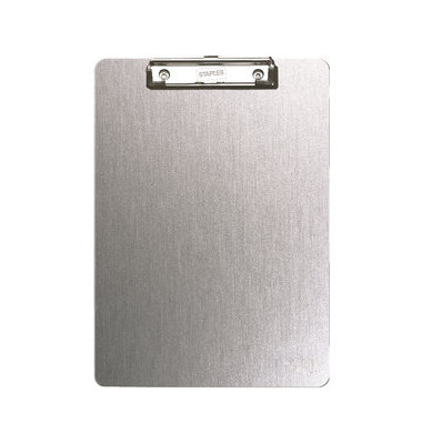 Klemmbrett 7220086 A4 grau metallic 230x350mm Aluminium mit Aufhängeöse