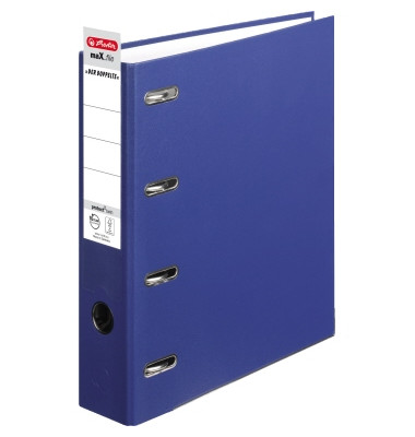 Doppelordner maX.file protect twin 2x A5-quer blau 70mm PP