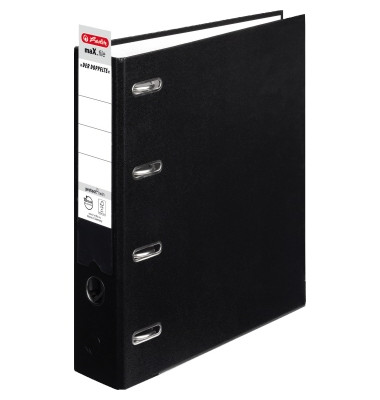 Doppelordner maX.file protect twin 2x A5-quer schwarz 70mm PP