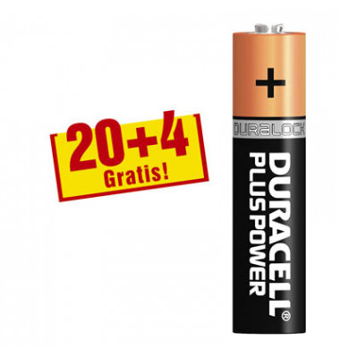 Batterie Plus Power Micro / LR03 / AAA 20+4 Stück