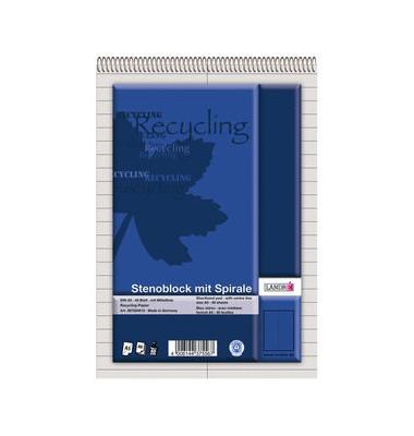 Stenoblock Recycling/367504012 DIN A5 liniert 60 g/qm Inh.40 Blatt