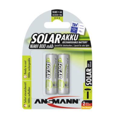 Akku Solar Mignon / HR06 / AA 2 Stück