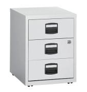 Rollcontainer PFA PFAM3S445 Metall lichtgrau, 3 normale Schubladen, abschließbar