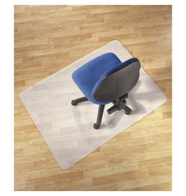 Bodenschutzmatte 75 x 120 cm Form O für Hartböden transparent PP