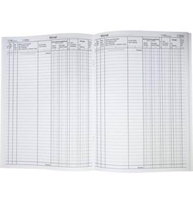 Waren- und Rechnungseingangsbuch/30013 DIN A4 weiß Inh.40 Blatt