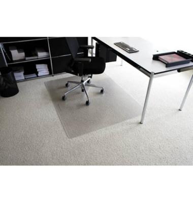 Bodenschutzmatte Rollt&Schützt 120 x 200 cm Form O für Teppichböden transparent Makrolon