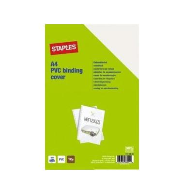 Umschlagfolien 7417985 A4 PVC 0,2 mm transparent klar 100 Stück
