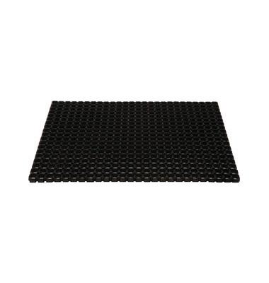Schmutzfangmatte 80 x 120 cm schwarz für Außenbereich
