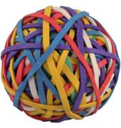 Gummiball mit 150 Gummibändern farbig 90g