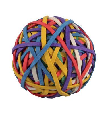 Gummibänder Ball verschiedene Größen farbig sortiert 150 Stück