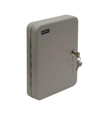Schlüsselschrank 20 Haken perlgrau 45x180x250mm Metall